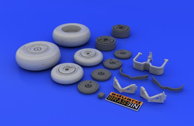 Eduard Accessories 648037 MiG-29 wheels for Academy//Eduard in 1:48